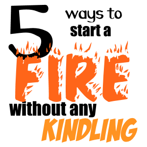 If you heat with wood, kindling is often in short supply. Here's a serviceable repertoire of kindling replacements that work fine in a pinch.